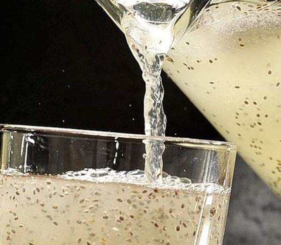 agua de chia com limao