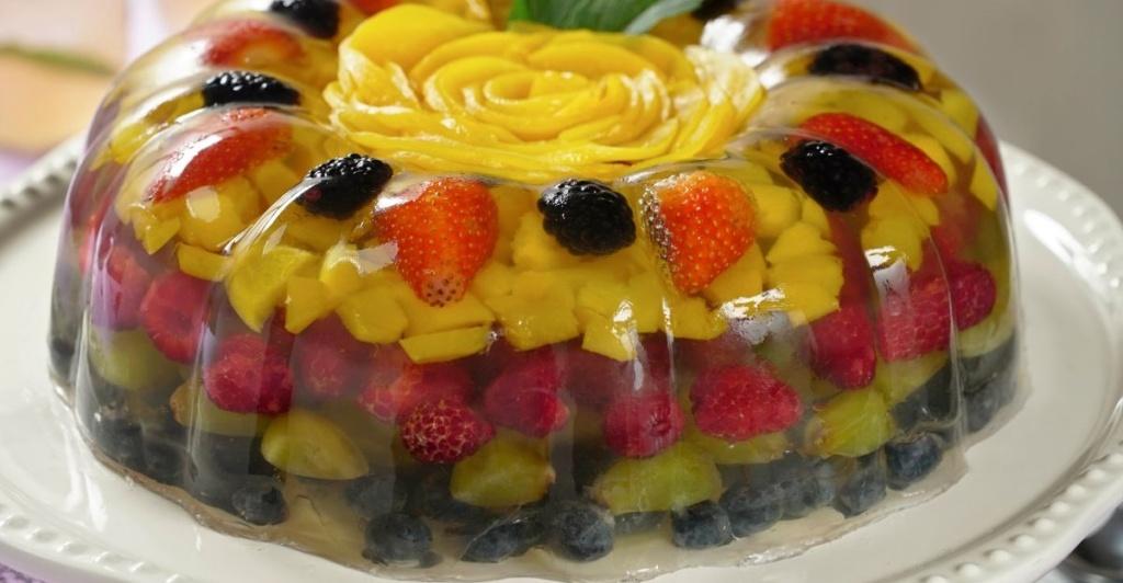 sobremesa de gelatina