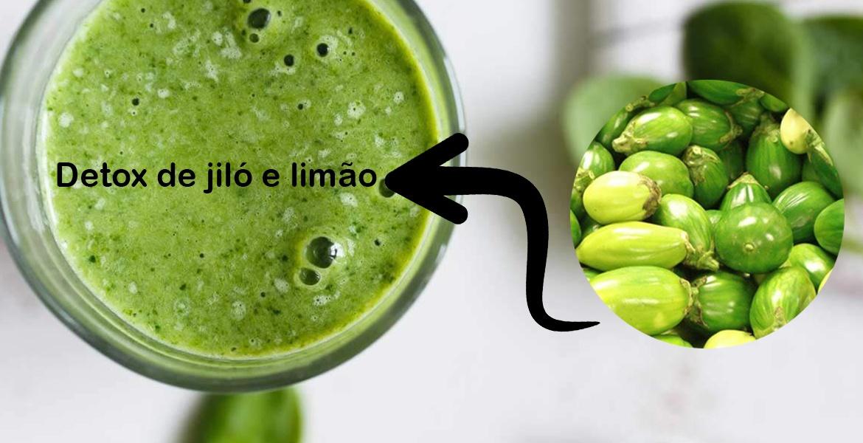 Detox de jiló e limão