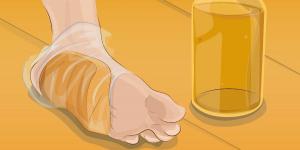 pão e vinagre nos pés