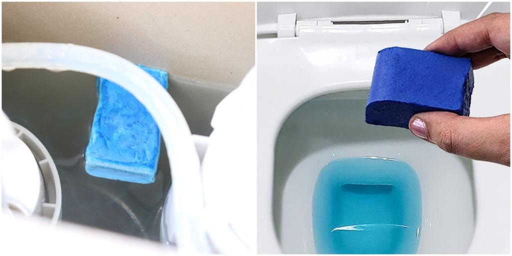 pedra sanitária azul