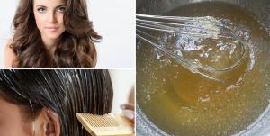 Gelatina no cabelo