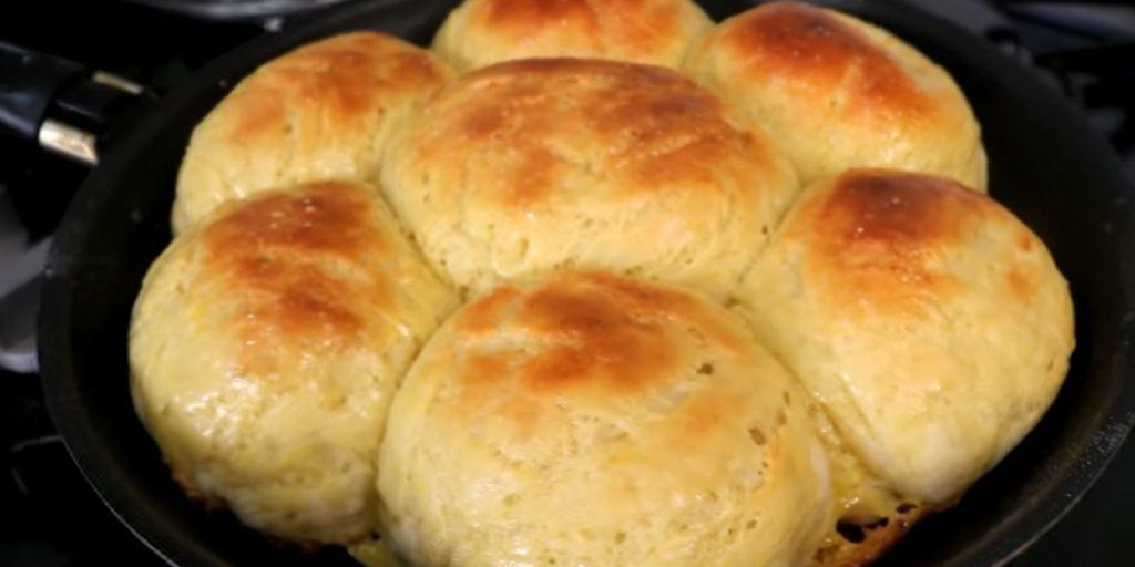 pão doce de frigideira