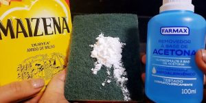 acetona e maisena