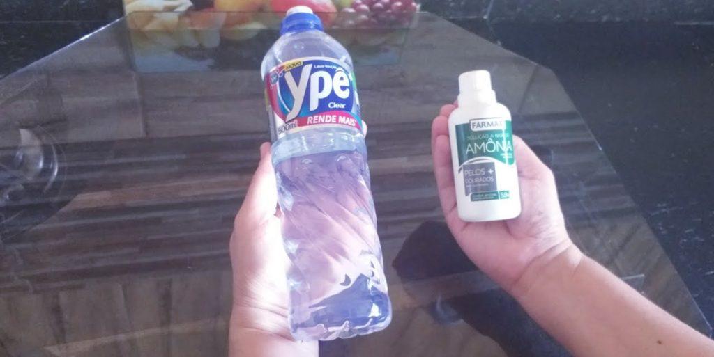 como usar amônia na limpeza